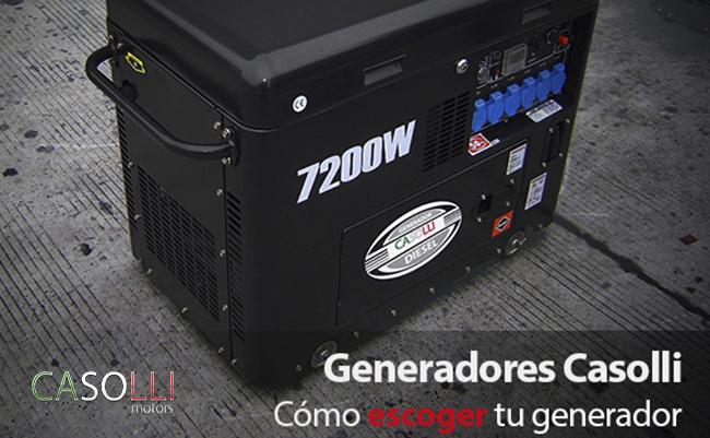 comprar un generador eléctrico